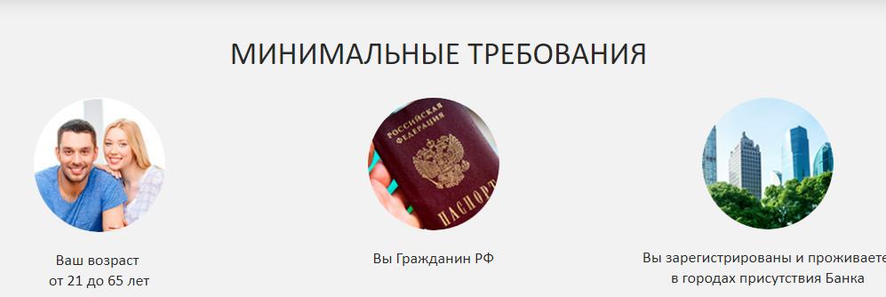 Требования к оформлению карты от Банка Первомайский