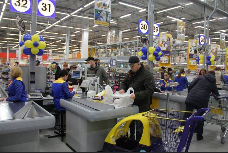 """Кассы сети гипермаркетов """"Лента"""""""