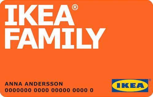 Карта члена клуба IKEA FAMILY