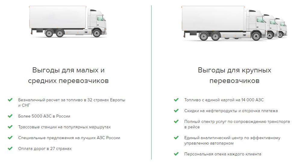 Выгоды для малых, средних и крупных региональных перевозчиков