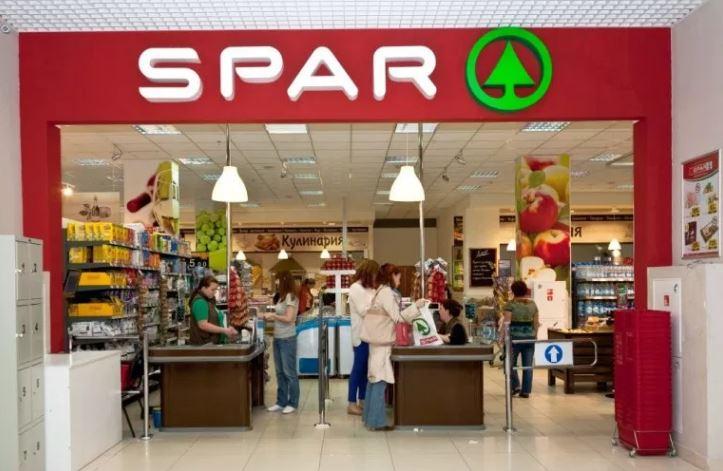 Касса супермаркета SPAR