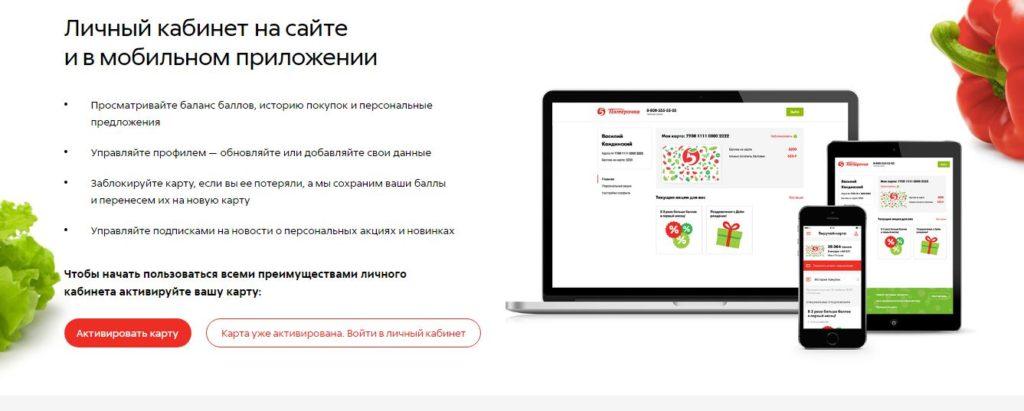 Личный кабинет на сайте и в мобильном приложении
