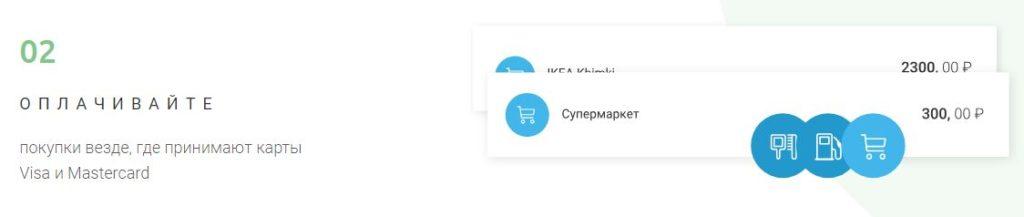 Оплата покупок с помощью карты myGift